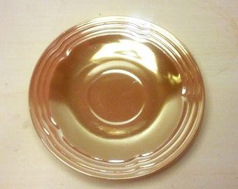 "Vintage Anchor Hocking- Fire King- Peach Lustre- 6"" Saucer"