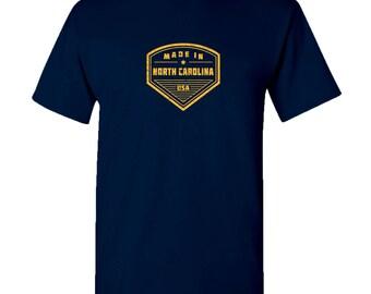 Made in North Carolina T Shirt - Navy