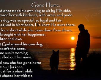Pet Dog Bereavement Memorial Fridge Magnet Rainbow Bridge gift - pet sympathy card alternative