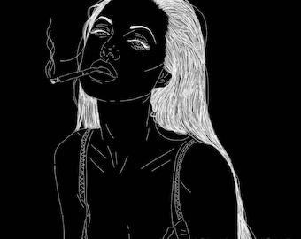 Angelina Jolie Digital Art Print