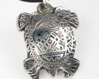 Surfer Dude Fine Silver Turtle Pendant - Southwest Turtle 99.9% Pure Silver Pendant - Silver Turtle Keyring - SW Turtle Pendant Gift