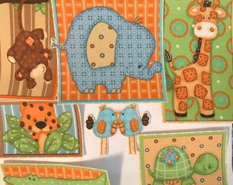 Nursery Jungle Animal Patches - Iron On Fabric Appliques