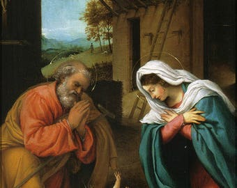 Poster, Many Sizes Available; Birth Of Jesus Christ By Lorenzo Lotto 1523 Nativity