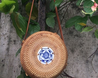 The Round Rattan Bag