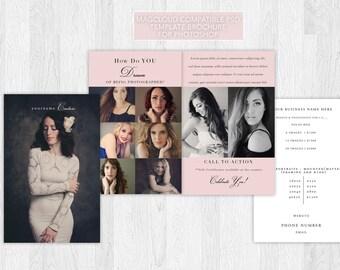 Brochure / Pamphlet for Glamour, Portrait, & Boudoir Photographers (4 pages) 8.25 x 5.25