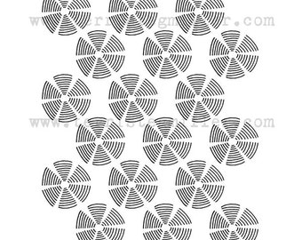 Thermofax Screen - Whirls