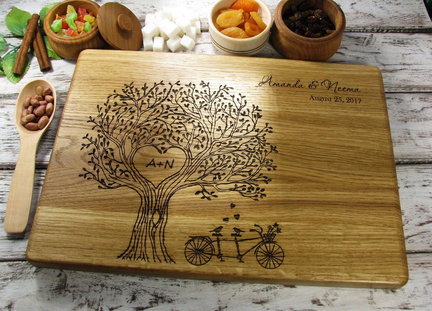 Wedding Gift Cutting Board: Personalized Cutting Board Wedding Gift Cutting Board