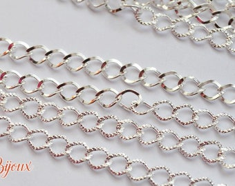 Great striated links chain. 9 x 7 mm. 1 m