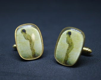 Vintage Naked Lady Cuff Links