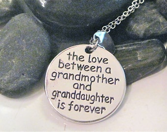 "Love between Grandmother and Granddaughter Necklace "" My Happiness """