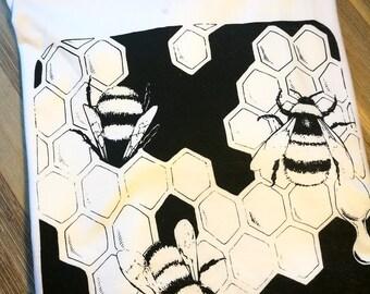 Bee (B-shirt) cotton t-shirt Print screenprinted