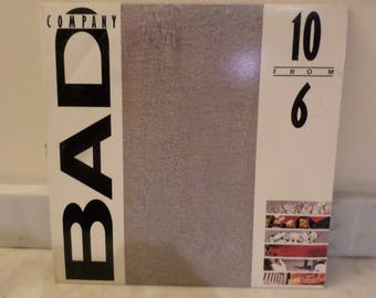Vintage 1985 Vinyl LP Record 10 From 6 Bad Company (Greatest Hits) Excellent Condition 14091