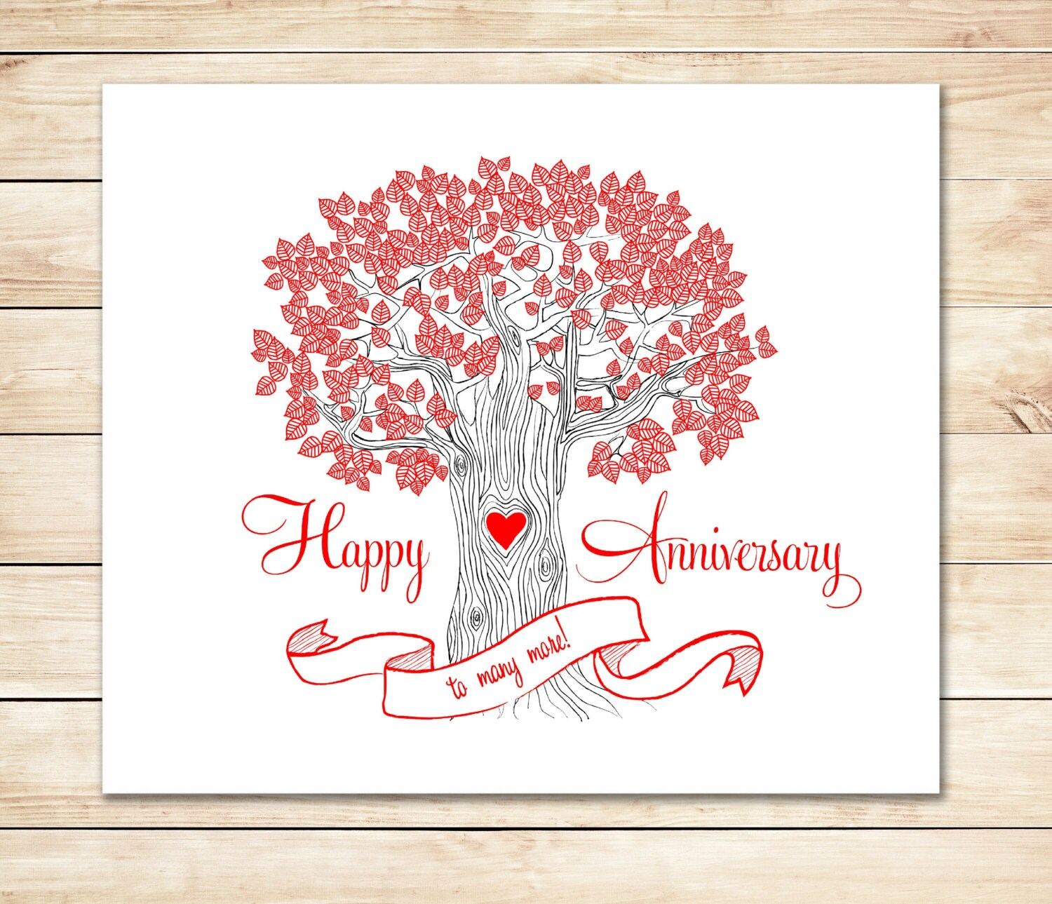 It is an image of Happy Anniversary Card Printable intended for marriage anniversary