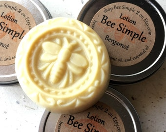 Bergamot Lotion Bar - Lotion Bar by Bee Simple - Earl Grey Tea - Gift for Knitter - Gift for Tea Lover - Mother's Day Gift for Grandma