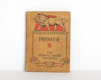 Vintage 1900s Primer Childrens Reader Book