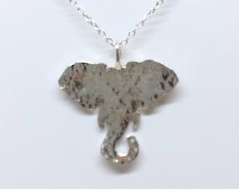 Sterling Silver Hammerd Elephant