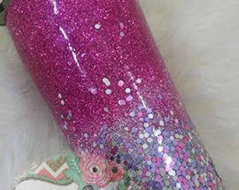 Glitter Tumbler-NO DECAL - Glitter Ombre - Gift for Teen - Bridal Party Gift - Gift for Her - Teenager - Birthday-Present