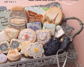 "Japanese How to make icing cookies Book,""French antique icing cookies"",[4528020564]"