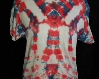 Patriotic mens tie dye medium