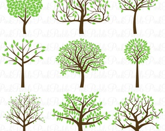 Tree Silhouette SVGs, Tree SVG Cutting Templates - Commercial and Personal Use