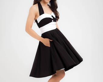 Black Dress Gothic Dress Rockabilly Dress Pinup Dress Swing Dress Party Plus Size Clothing Steampunk Dress Psychobilly Emo Cyber Punk Dress