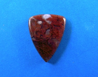 Red moss agate cabochon