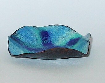Copper Enamel  Starfish Bowl