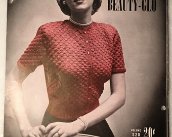 Vintage Fashions and Accessories Knit and Crochet Patterns, 1951 Sultana Beauty-Glo Knitting and Crochet Patterns