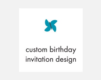 Printable Custom Birthday Invitation Design, Custom Invitation, Printable Invitation, Flying Pinwheel