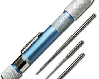 Deluxe Bead Reamer Three Piece Set, Beadsmith Diamond Coated Hole Reamers, For Pearls and Glass Beads