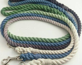 CHOOSE YOUR COLOR - custom color - 100% Cotton Rope Ombre Dog Leash