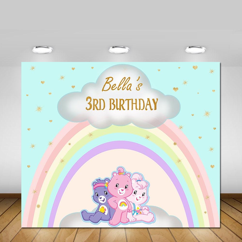 Printable care bears birthday backdrop postersign banner zoom monicamarmolfo Choice Image
