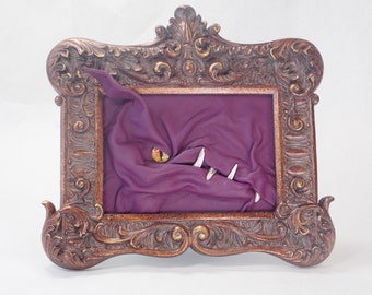 SALE! Dragon 3D Leather Framed Art Portrait Purple Leather