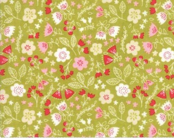 Toss the Garden Green Cotton Woven,  Just Another Walk in the Woods by Moda