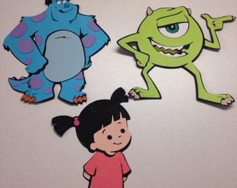 2 sets of 3 Monsters Inc. die cuts