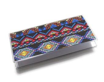 Checkbook Cover Aztec