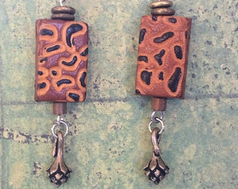 Leopard Spot Leather Earrings