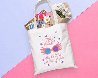 Harry Potter Tote Bag | Don't Worry You're Just as Sane as I Am - Luna Lovegood