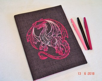 Pink Dragon Composition Notebook Cover