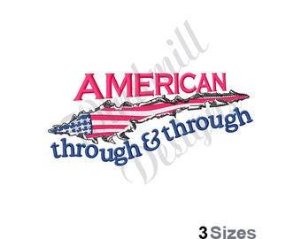 American Flag Torn - Machine Embroidery Design