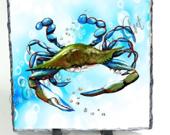 Blue Crab Swimming from Original Artwork
