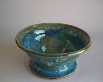 Hand thrown stoneware pottery serving bowl  (SB-9)