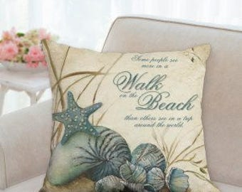Walk on the Beach Designer Pillow
