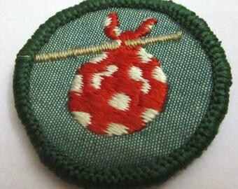 """Vintage Junior Girl Scout Badge """"Gypsy"""" circa 1960's"""