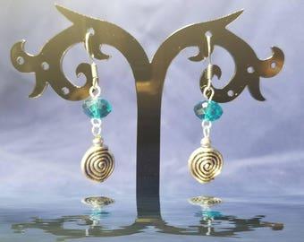 Blue Swirl Earrings #GL3291