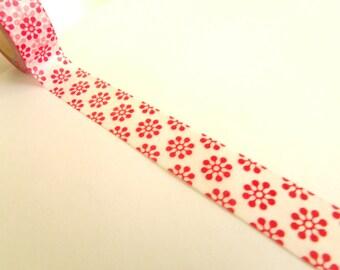 10 m Masking Tape Washi Tape tape red flowers