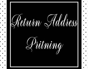 Return Address Printing//Add On//Paperienco//Set of 12