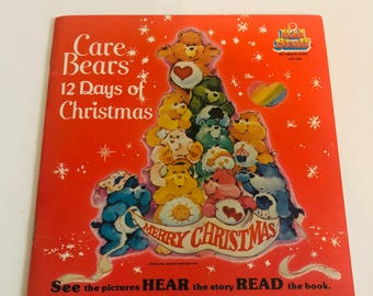Vintage Kid Stuff CareBears 12 Days Of Christmas record and story book