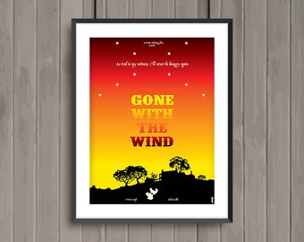 GONE WITH the WIND, minimalist movie poster