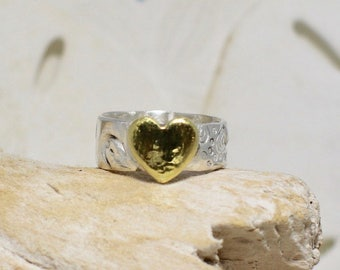 Heart imprint ring Etsy